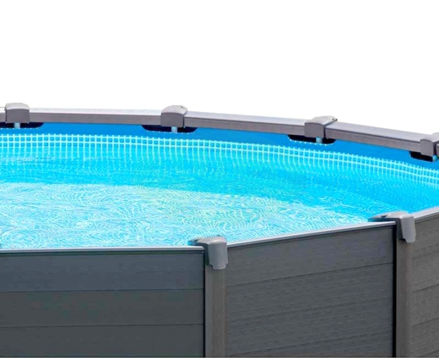 Piscine r sine graphite grise anthracite for Piscine hors sol metal resine