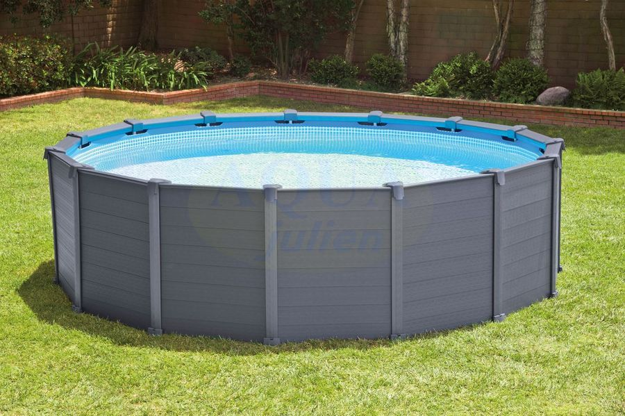 Piscine r sine graphite grise anthracite for Piscine hors sol julien albi