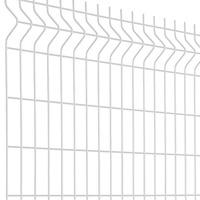Panneau Clôture Rigide Blanc Haut. 1.03m 100x55 2m