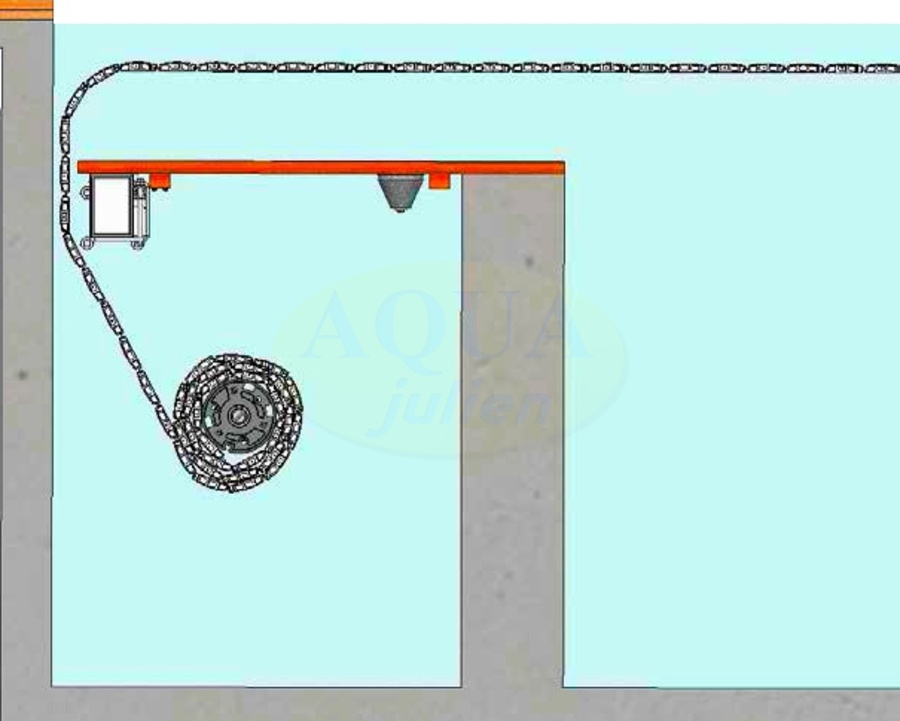 Volet roulant caillebotis immerg de piscine fc for Piscine miroir et volet roulant