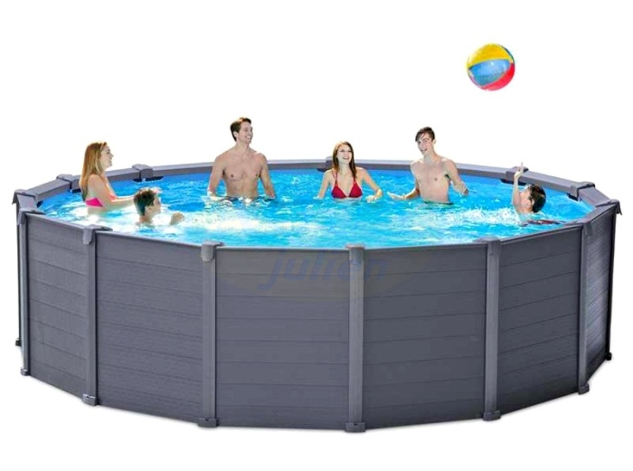 Piscine r sine graphite grise anthracite for Piscine en resine