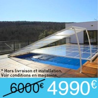Abri Plat Piscine Relevable Empilable & Roulable