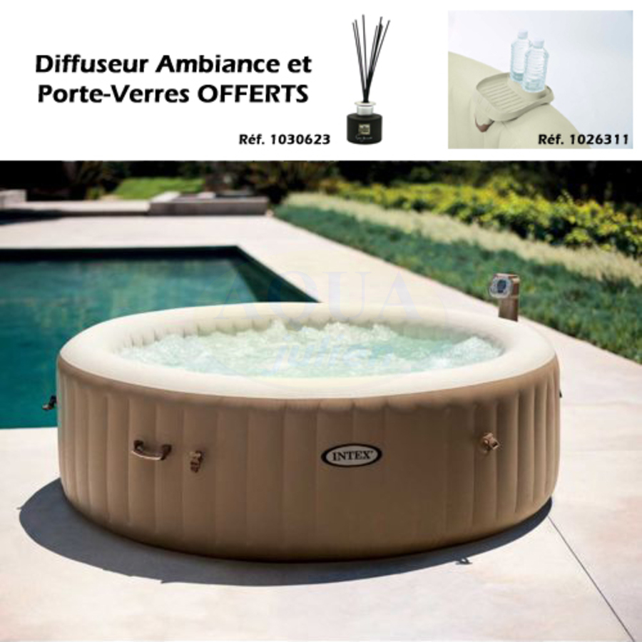 spa gonflable rond intex air 6 places. Black Bedroom Furniture Sets. Home Design Ideas