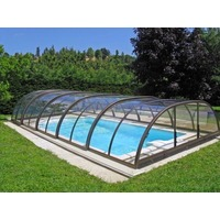Abri Piscine Semi Haut Design Télesco. Full Vision