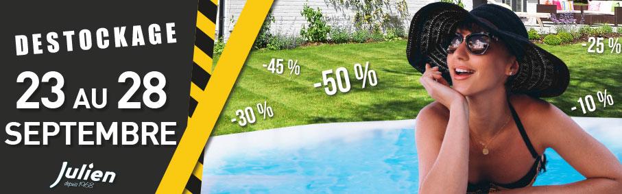 Destockage piscine plein air spa cloture... Magasin Julien de Albi Toulouse Rodez et Gaillac 2019